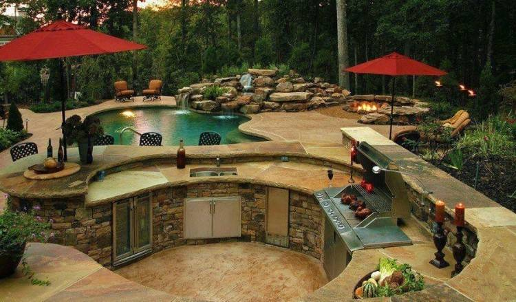 pool, kitchen, firepit and waterfall! More at:  www