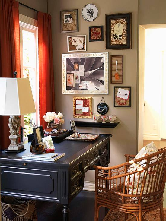 ideas for decorating a practical home office desk