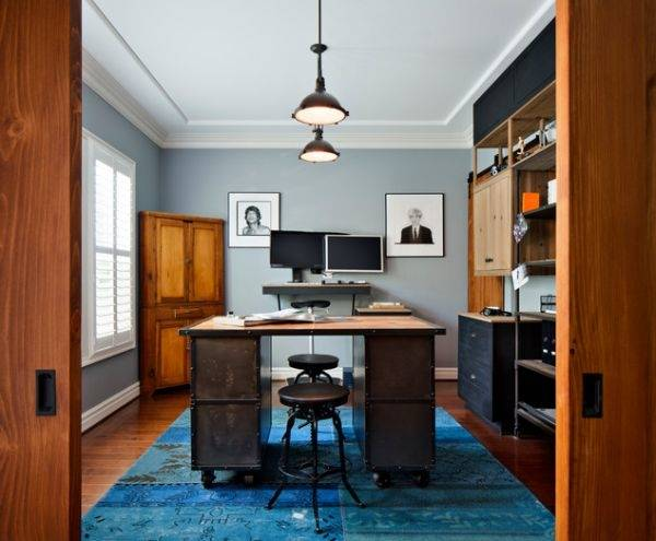 industrial home office desk industrial home office industrial home office  industrial themed small home office design