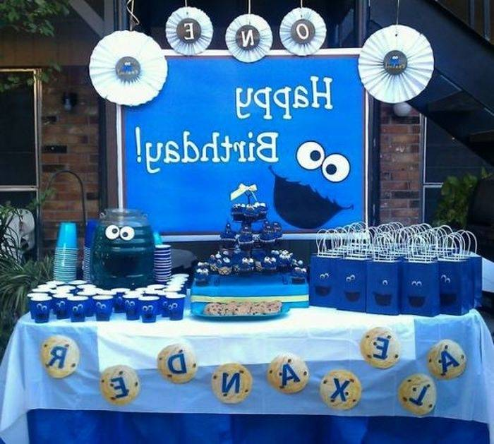Cookie Cake Decorating Ideas Birthday Luxury Cookie Monster theme 1st  Birthday Cake by K Noelle Cakes
