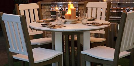You will fall in love with the simple, elegant, and coastal look of our ·  Wood PatioPatio TableAmish