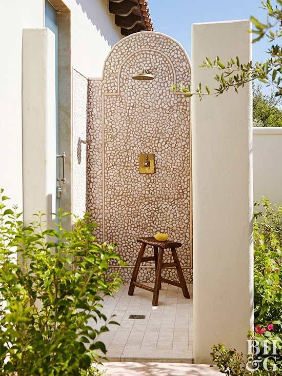 An outdoor shower in South Carolina
