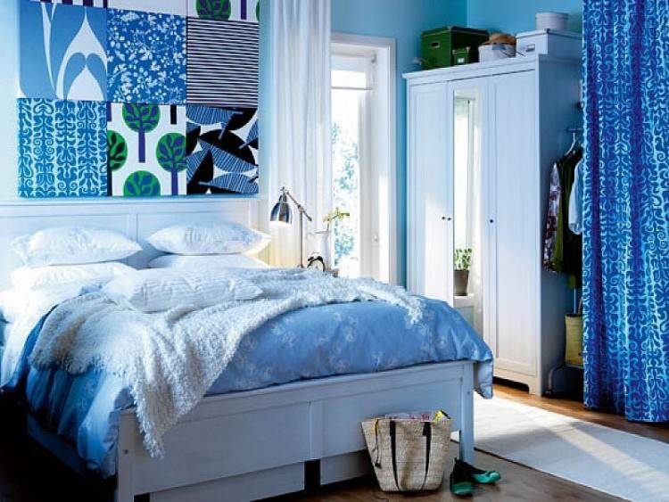 Make the ombre walls the stars of your room by using only a few small  wall