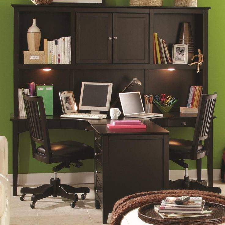 Dual Desk Home Office Ideas Dual Desk Home Office Dual Desk Home Office  With Side By Desks In Front Of Windows Dual Desk Home Office Home Interior  Designs