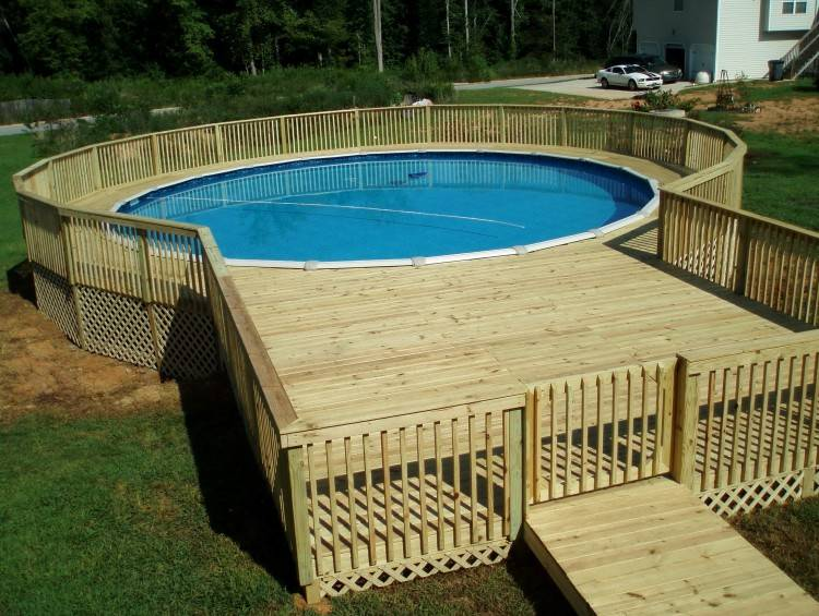 pool decks for above ground three solutions for sprucing up an above ground  pool around above