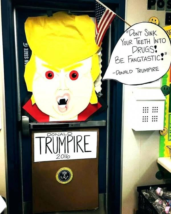 Door Decorations for Red Ribbon Week   by Old Shoe Woman