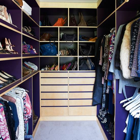 Clothes are organised, neat and  accessible with open storage and shelves