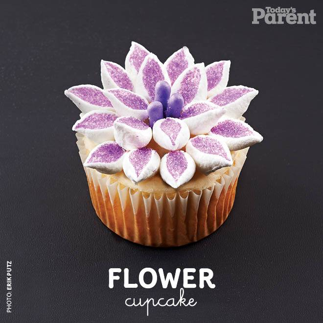 Make your gift  the center of attention, but use the flowers to give it an extra special  touch