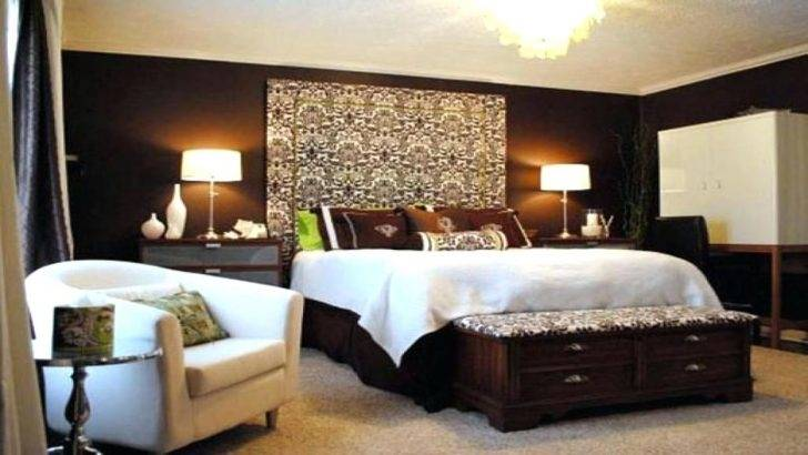 Chocolate Brown Master Bedroom With Dark Storage Fluffy Rug Chair  Mirror And Great Lamps Ideas Concepts | Home | Pinterest | Bedroom, Bedroom  decor …
