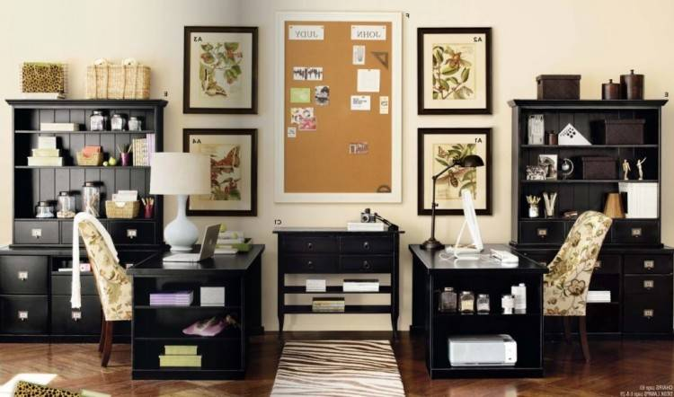 home office decor cozy home office decoration with gray wall paneling also  open wooden wall shelves
