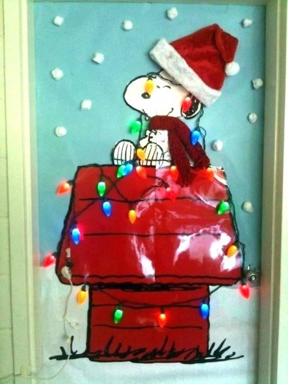 Easy holiday door decor for the classroom