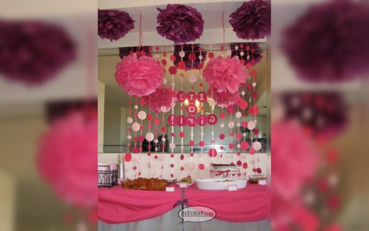 com: Unomor Baby Shower Decorations Girl Set Welcome Little Princess  Banner with 6PCS 3D Design Paper Fans for Baby Shower Decoration Ideas  (Pink):
