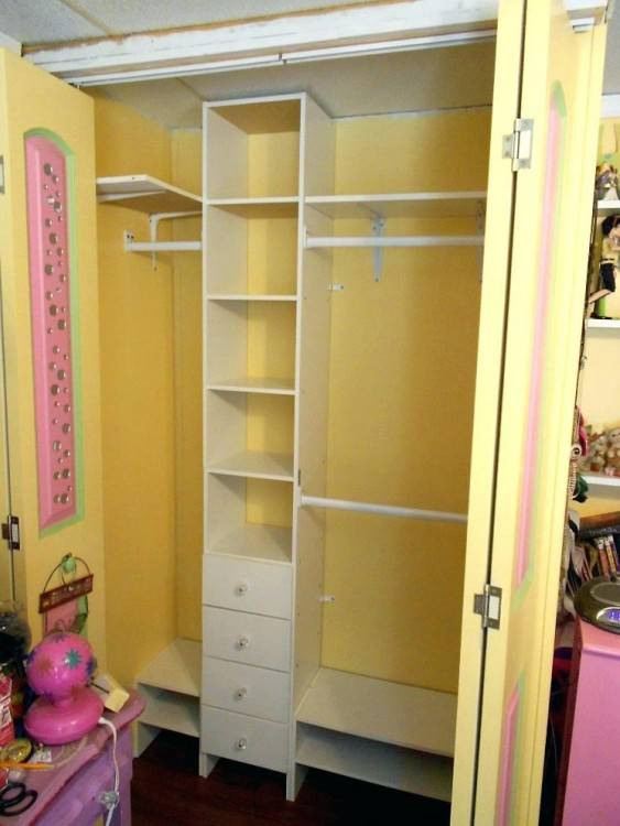 Closets & Storages, : Exciting Image Of Bedroom Closet And Storage  Decoration Using White Metal Lowes Closet Organizers Including Solid Oak  Wood Closet