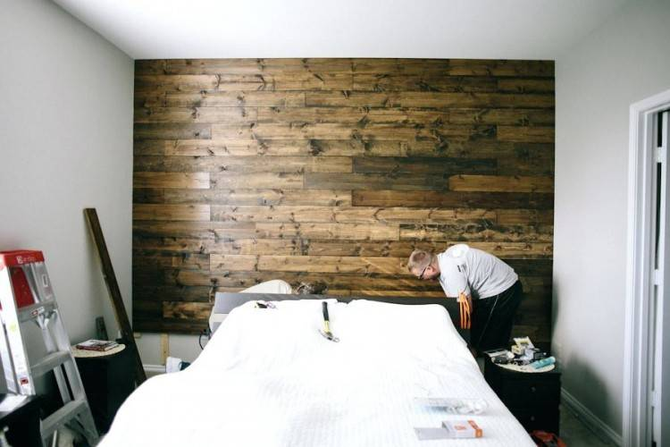 plank wood bed and how to wooden wall in our bedroom plank wood bedroom  furniture wood
