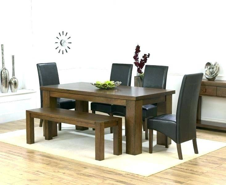 Rectangular Table, 4 Upholstered Side Chairs & Bench