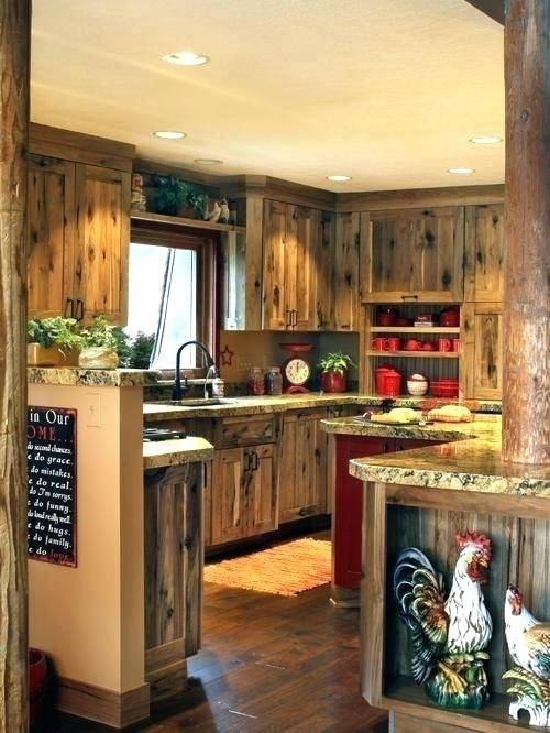 rustic hickory cabinets kitchen