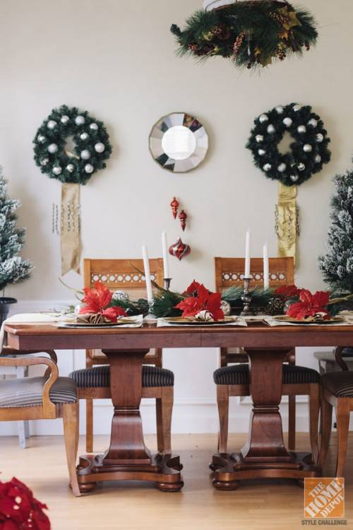 Blue and white absolutely takes holiday decor to the next level