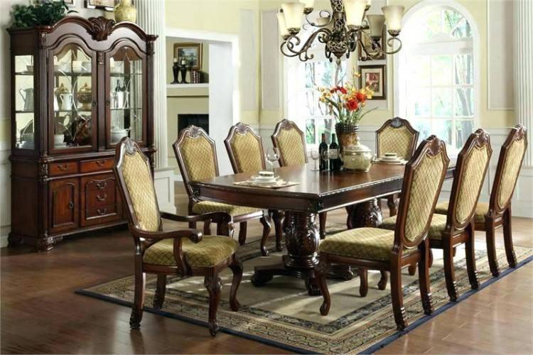 elegant dining room table fancy furniture set round upscale tables