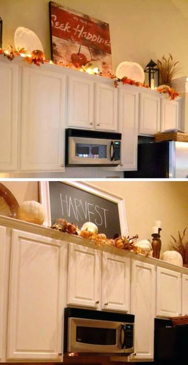 Attractive Decorating Above Kitchen Cabinets Above Kitchen Cabinet  Decor Ideas Kitchen Design Ideas