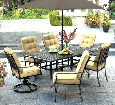 lowes patio dining sets clearance patio furniture set with swivel chairs 9  piece outdoor dining wicker