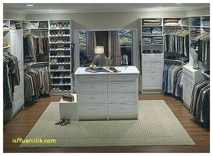 Simple Furniture for Walk in Closet Designs with Hanging Clothes also  White Racks Idea | Large