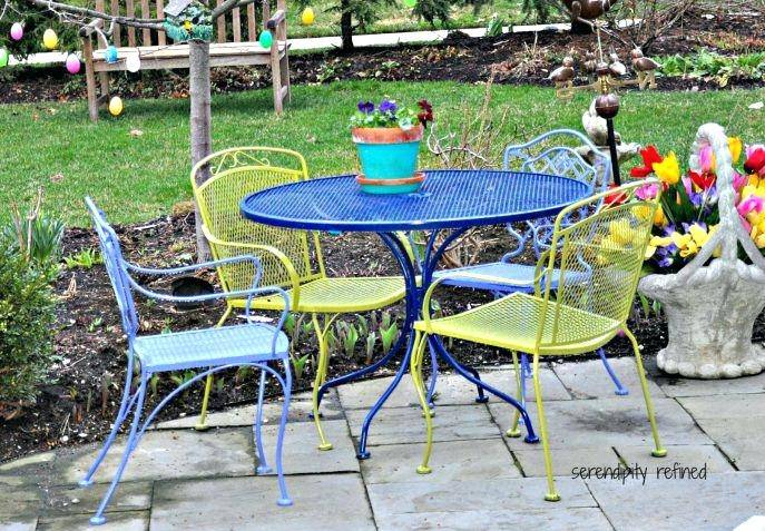 salterini patio furniture a two piece wrought iron patio set in the  desirable mt pattern salterini