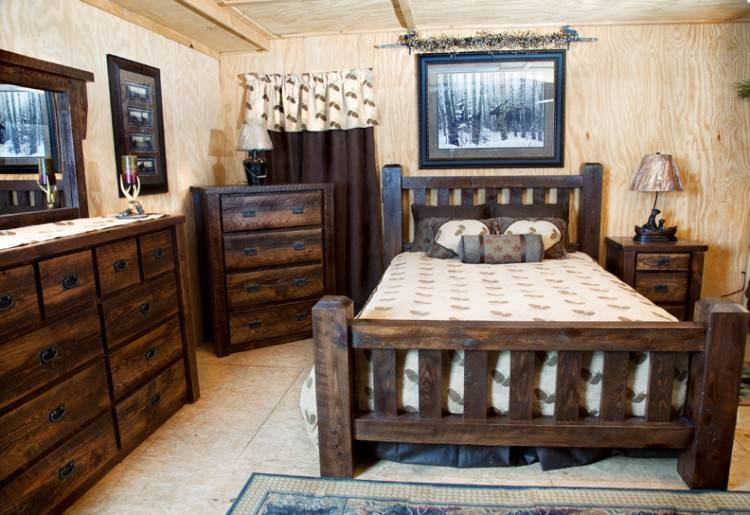 Amish Eco Friendly Oasis Panel Bed