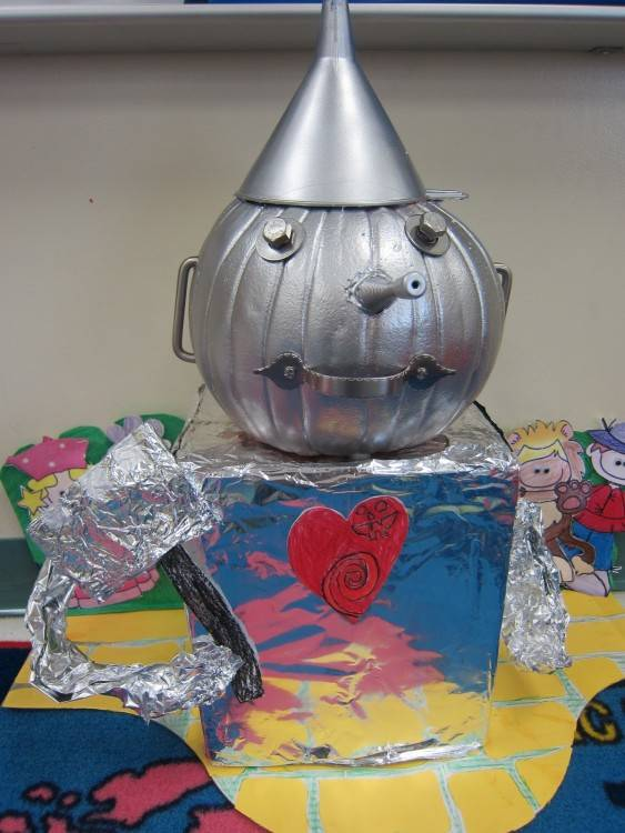 Tin man pumpkin made for my son's school project
