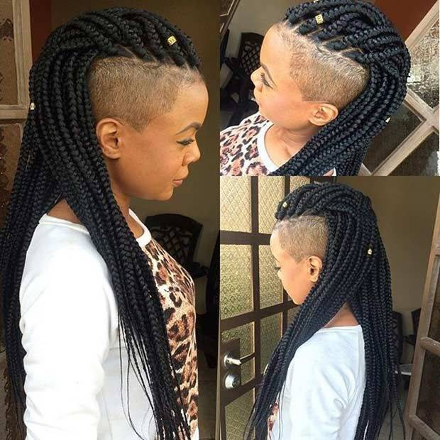 Mohawk Braid Styles Towards Back Hair Salon