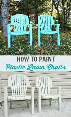 Really inexpensive patio chair makeover