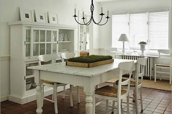 home office in dining room