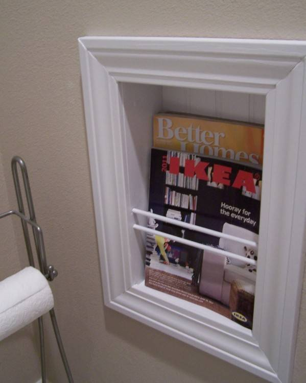 magazine holder for bathroom