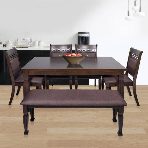 4 Upholstered Side Chairs & Dining Room Bench
