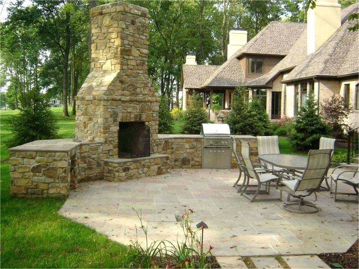 outdoor kitchens with fireplace amazing ideas