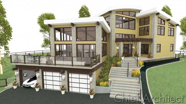 The design is  modular in that the main 54'x20′ section could be the initial build