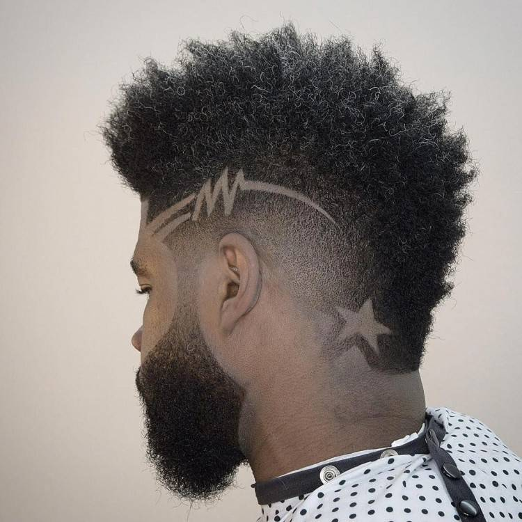 A long curly top fade haircut is also another variation of fade where a top  portion of hair is longer than other styles