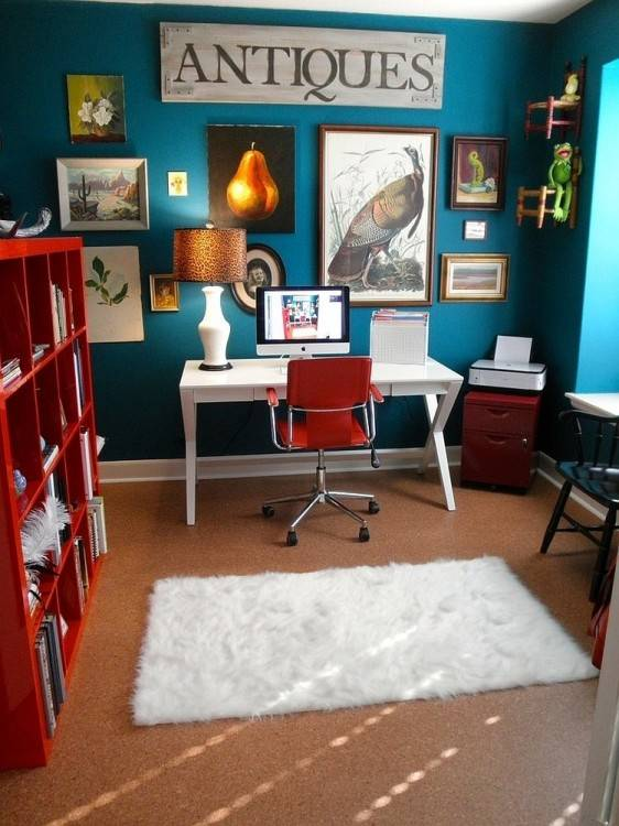 A fun and eclectic home office