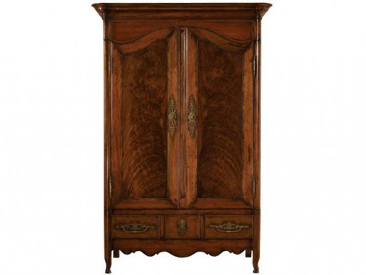 beautiful French armoire in the dining room
