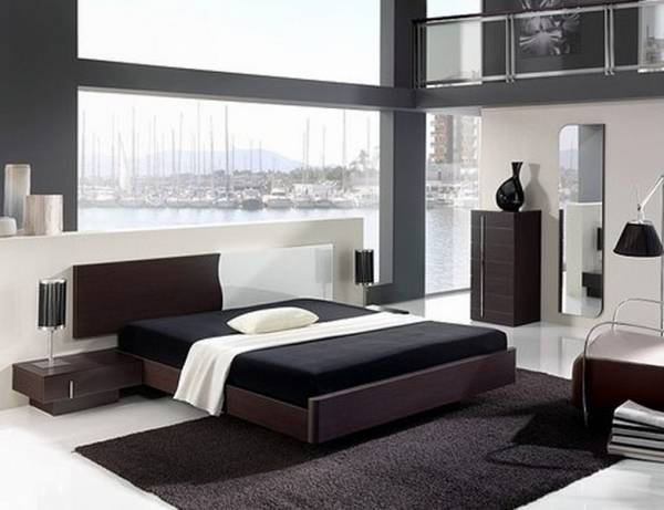 Contemporary Bedroom Furniture Black And Optional Black