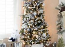 Full Size of Christmas Tree: Black And White Christmas Tree Ideas Decoration  Festival Collections View