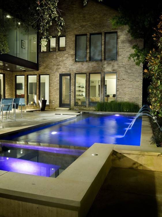 The Venetian is a smaller fiberglass pool designed to fit into smaller  urban backyards