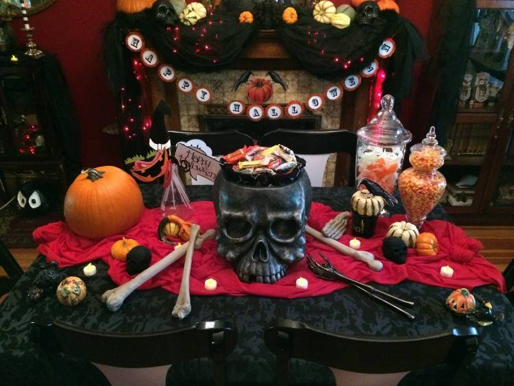gothic halloween decorating ideas party