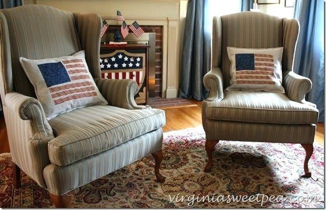 patriotic decor in our blue cottage decorating ideas living room