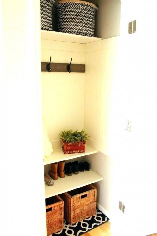 closet mud room clever idea for a mud off door of a closet and put in