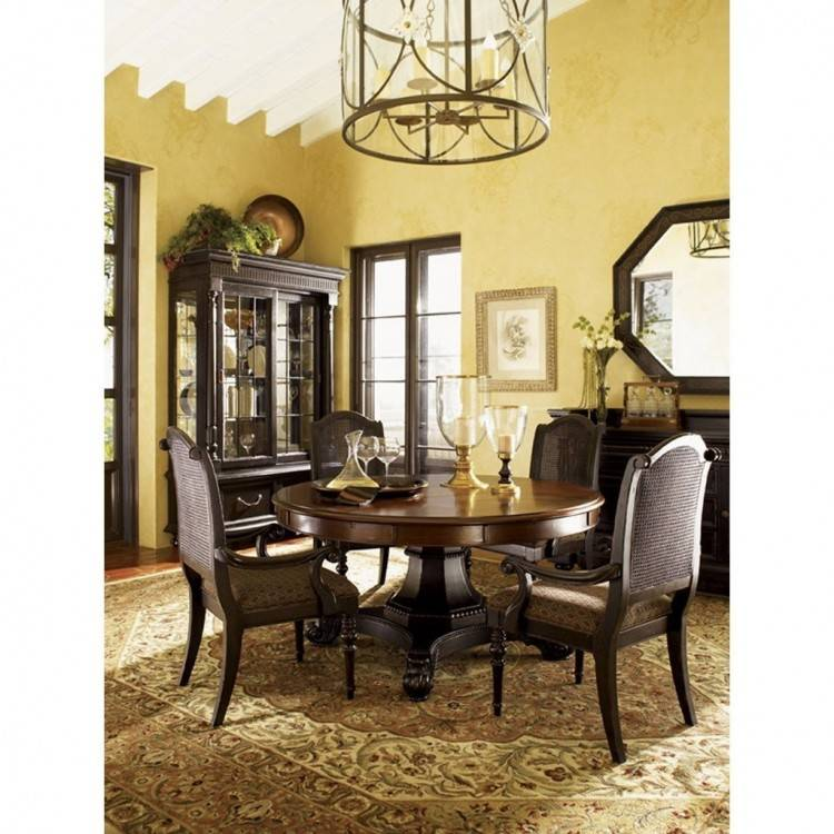 Tommy Bahama Island Fusion Marquesa Wood Dining Table in Hickory
