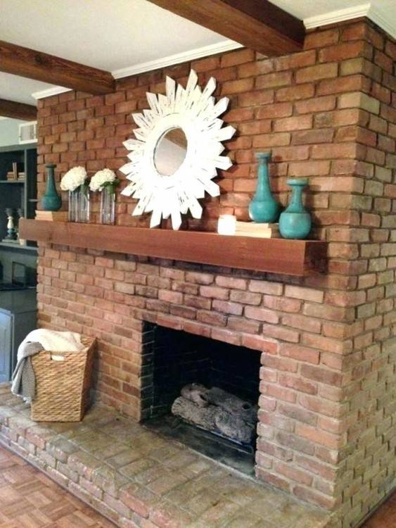 painted brick fireplace winter decorations mantel decor red decorating ideas  farmhouse