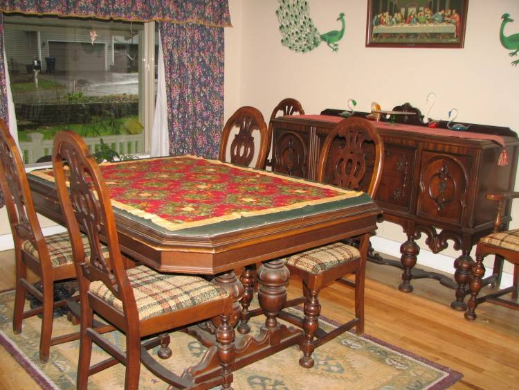 Cool European Reproduction Dining Room Tables And Antique On Round Table