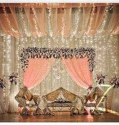 If you have a wedding planner, you can always suggest this stage decoration  to him or her