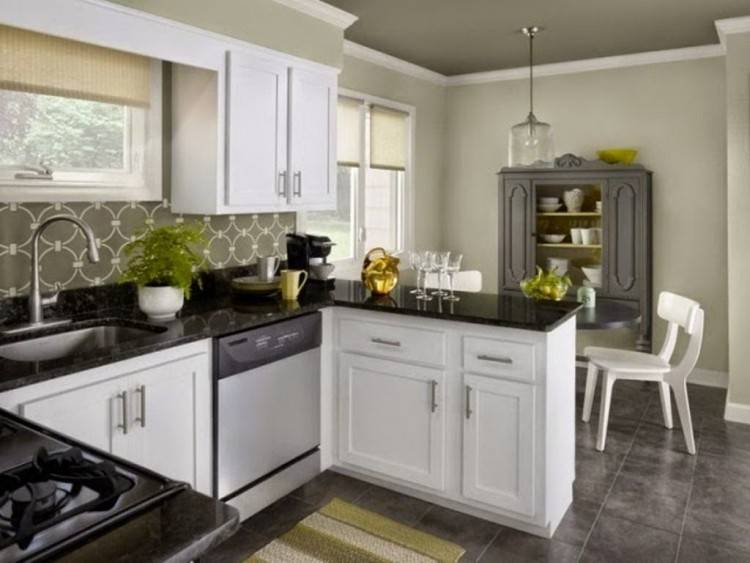Kitchen Paint Colors What Color Goes With Oak Cabinets Small Wall Make  Galley Bigger White Ideas