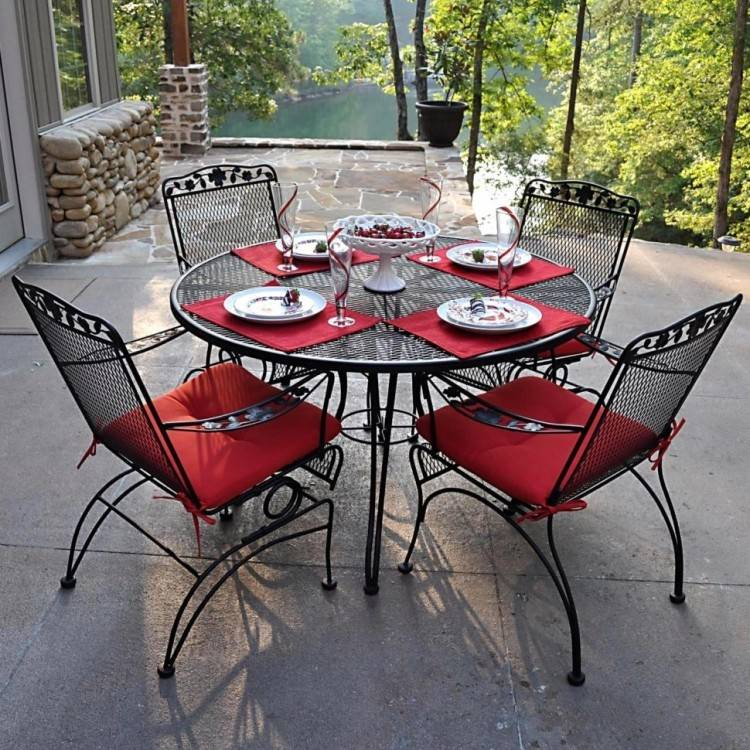 Medium Size of Retro Metal Outdoor Patio Furniture Dining Table Set  Nantucket Chair Cast Iron Wrought